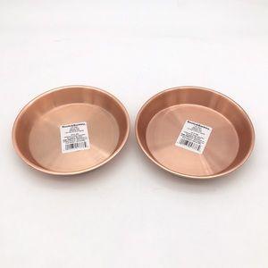 Set of 2 Boots & Barkley Copper Pet Bowls